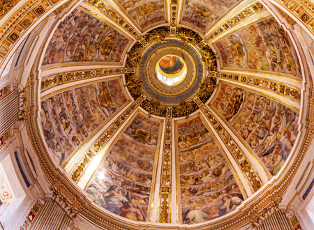 Dome God Basilica Santa Maria Maggiore Rome Italy. One of 4 Papal basilicas, built 422-432, built in honor of Virgin Mary, became Papal residency before Vatican