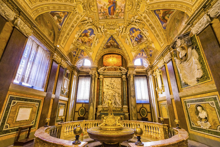 Golden Baptistry Basilica Santa Maria Maggiore Rome Italy. One of 4 Papal basilicas, built 422-432, built in honor of Virgin Mary, became Papal residency before Vatican