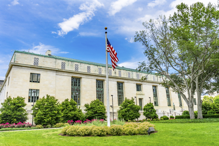National Academy of Sciences NAS Building US Flag Constitution Ave Washington DC. Dedicated 1924, National Academy of Medicine