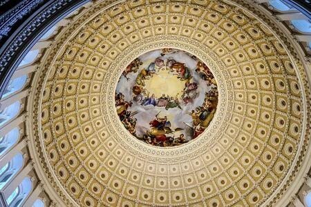 Apothesis von George Washington, Rotunde, US Capitol Dome Washington DC, gemalt von Constantino Burundi 1865 Standard-Bild