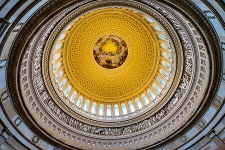 Apothesis of George Washington, Rotunda, US Capitol Dome Washington DC Painted by Constantino Burundi 1865