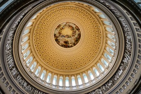 Apothesis of George Washington, Rotunda, US Capitol Dome Washington DC Painted by Constantino Burundi 1865