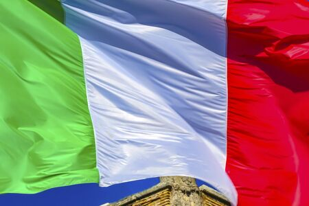 Red White Green Italian Country Flag Rome Italy
