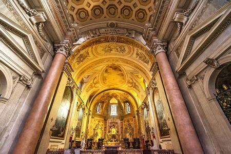 Altar Basilica Saint Mary Angels and Martyrs Rome Italy. Church designed by Michelangelo 1560 from Emperor Diocletian Baths Stock Photo