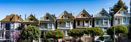 The Painted Ladies of San Francisco, California, USA, March 30, 2020 Editorial