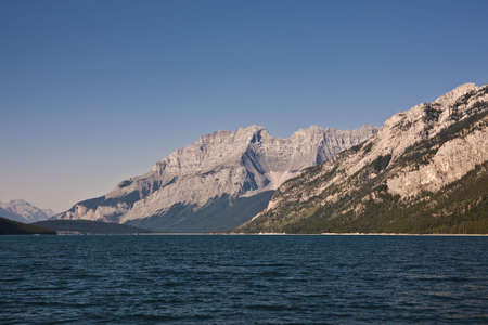 Lake Minnewanka - Banff National Park - Alberta - Canada Stock Photo