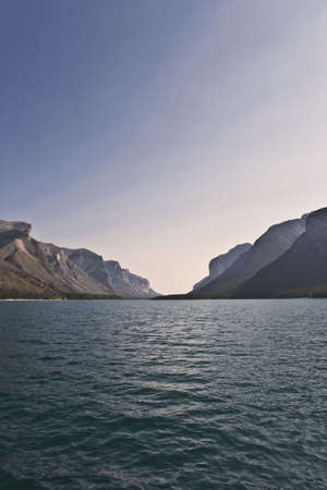 Lake Minnewanka - Banff National Park - Alberta - Canada Stock Photo