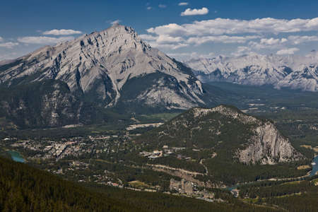 Famous Fairmont Banff Springs Hotel - Banff - Alberta - Canada Stock Photo