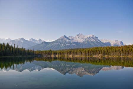 Herbert Lake - Banff National Park - Alberta - Canada Stock Photo
