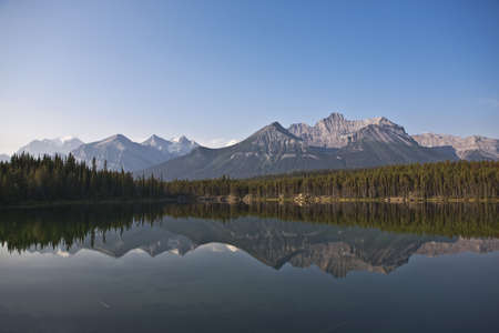 Herbert Lake - Banff National Park - Alberta - Canada Stock Photo