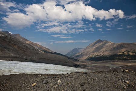 Toe of recedingColumbia Ice Glacier - Jasper National Park - Alberta - Canada