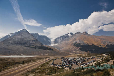 Columbia Icefield and parkway of Glacier View Inn - Jasper National Park - Alberta - Canada photo