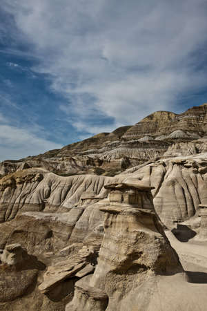 Hoodoos near Drumheller - Alberta - Canada Stock Photo - 6751459