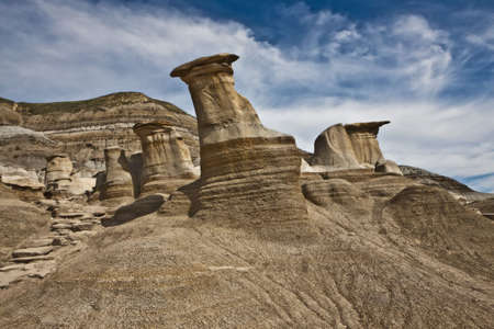 Hoodoos near Drumheller - Alberta - Canada photo