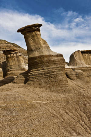 Hoodoos near Drumheller - Alberta - Canada Stock Photo - 6751497