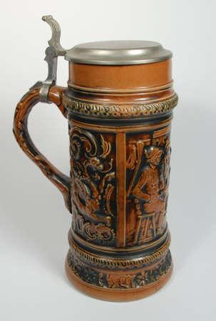 pewter mug: Brown Beer Stien