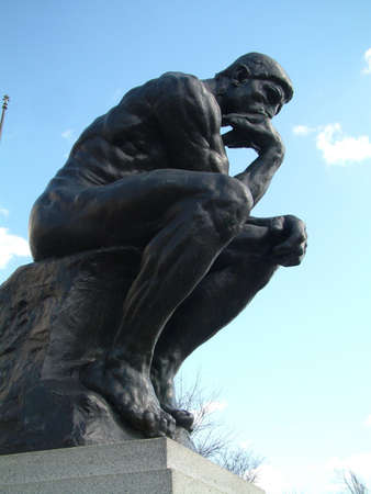rodin: The Thinker by Rodin Stock Photo