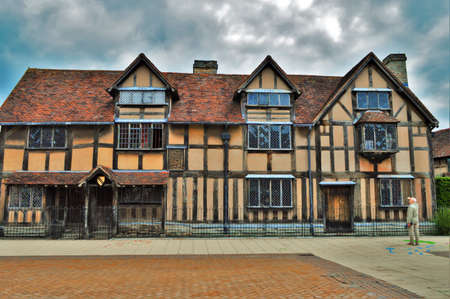 The Birthplace of Playwright William Shakespeare in Stratford-upon-Avon, England