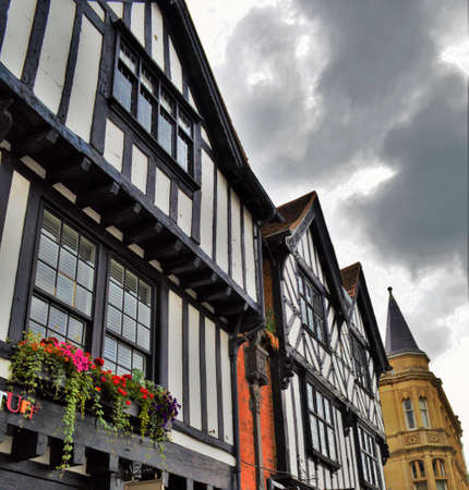 Half Timbered Architecture and Buildings, Homes in Stratford-upon-Avon, England
