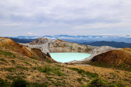acidic: View of Mt. Kusatsu-Shirane in Gunma Prefecture,Japan