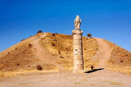 tumulus: Karakus Tumulus Monumental Tombs of Commagene  the Forgotten Kingdom Built By Antiochos Kommagena Stock Photo