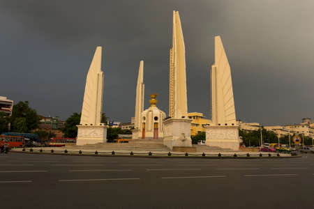democracy Monument: Thailands Democracy monument at the evening Stock Photo