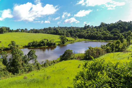 khaoyai: A small lake can see from a observation tower, park of Khaoyai National park, Thailand Stock Photo