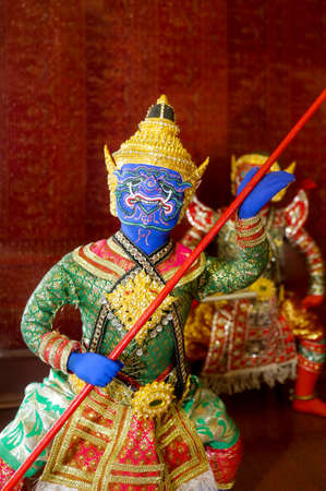 aisa: Image show Ravana of the Ramayana blue giant