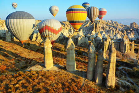 otherworldly: cappadocia, turkey, is full of otherworldly natural sites,tall,cone-shaped rock formations chustered in Monks Valley and elsewhere, best known for the most famous hot air bollon in the world.