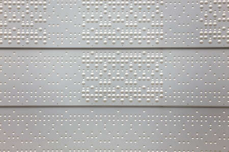 tactile: braille is a tactile writing system used by people who blind and low vision Stock Photo