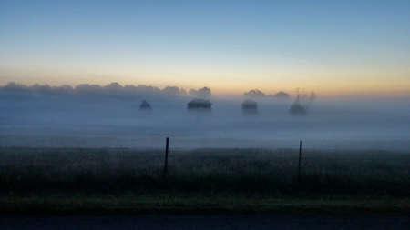 Mistige ochtend in de vallei
