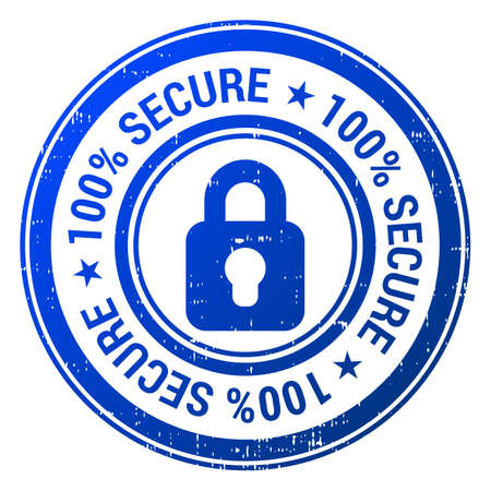secured: 100% Secure Icon Illustration