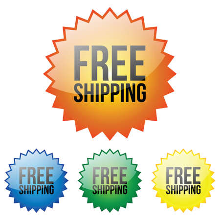 shipping: Glossy Free Shipping Icon