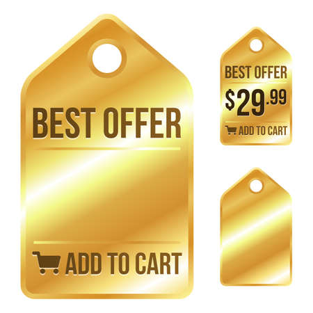 retail sales: Gold Sale Tag - Best Offer