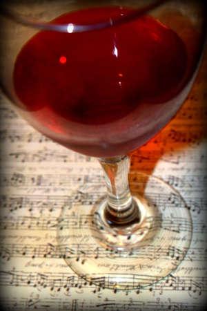 sheet music: Wine  Classical Music Stock Photo