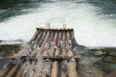 Raft in the river