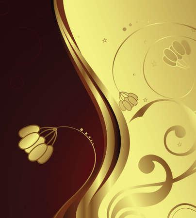 swirly design: Golden Flower 1-2