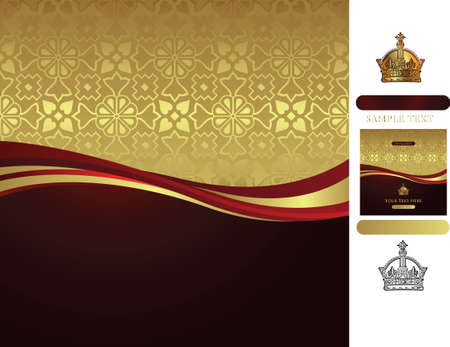 golden background with corwn Vector