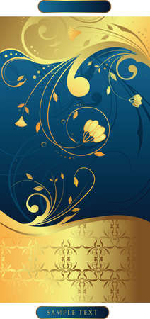 blue floral Stock Vector - 3124189