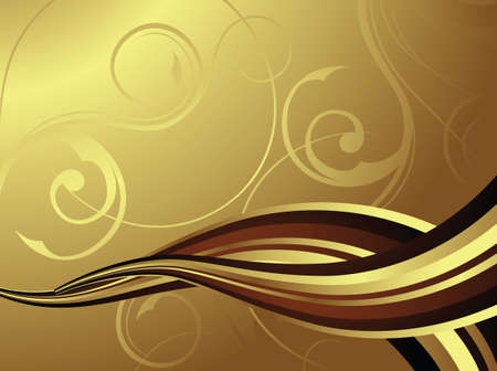 flowing chocolate or coffee Vector