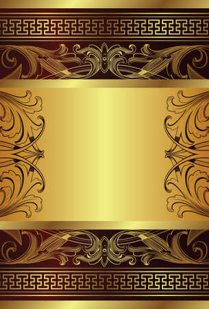 brown box: golden frame