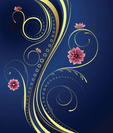 royal wedding: Floral Background Illustration