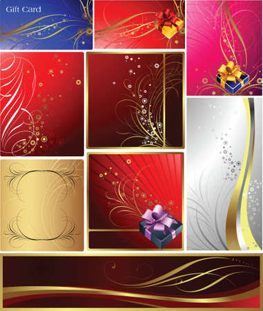 Gift and Banner  Vector