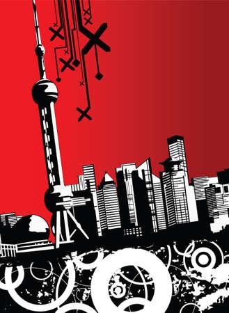 China City~Shanghai  Illustration