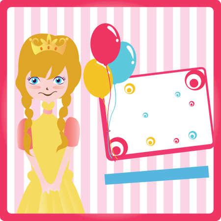 beauty birthday: Birthday Party Invitation Card Illustration