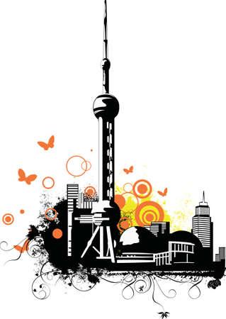 shanghai china: China City~Shanghai  Illustration