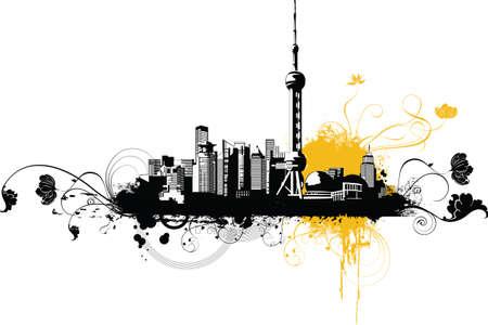China City~Shanghai  Ilustração