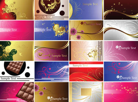 Chololate and Seasonal Backgrounds Vector