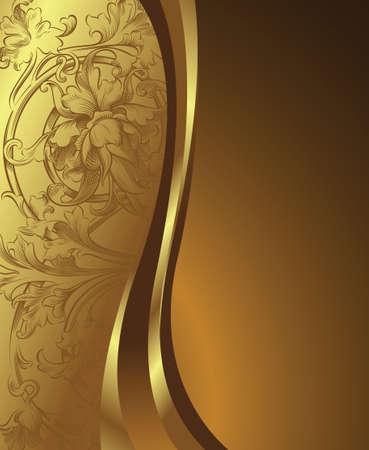 Golden Floral Stock Vector - 3363501