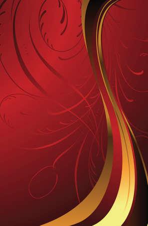 Golden Red Vector